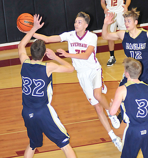 The Dalles basketball player Dakota Murr glides to the basket for two points in a game played last season. Murr, a junior, was named to the 5A all-state squad.
