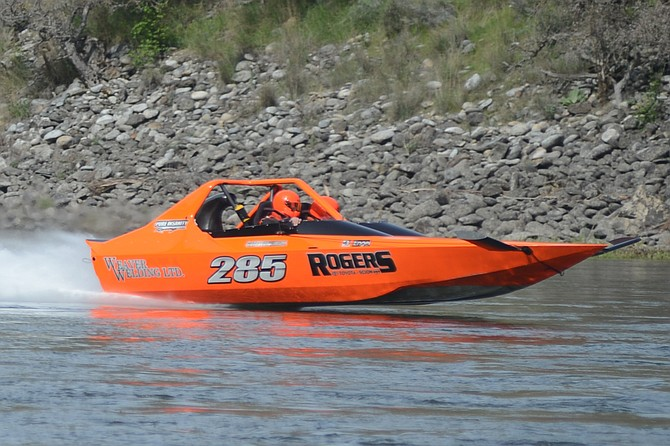 Ryan Rogers of Lewiston was overall champion of last weekend's SalmonRiver Jet Boat Races, having won the unlimited class with a time of 50 minutes, nine seconds over 10 legs, eight miles each, up and down from Island Bar to Lightning Creek.