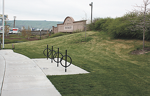 Bike racks have already been installed at Lewis & Clark Park, above, but more amenities are planned for next year if a $48,000 grant from the Oregon Parks & Recreation Department is awarded to the city of The Dalles.