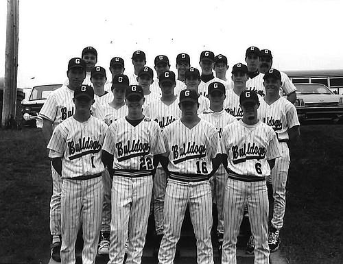 The 1995 Grangeville High School Bulldog baseball team.