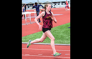The Dalles track and field athlete Jenna Miller placed fourth in the 400 meters and the girls' team set six personal records at the Kiwanis Invite Saturday.