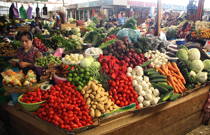 An open air market in Guatemala full of colorful produce, above, was just one of the places visited by students from The Dalles High School on a week-long trip to the country, where they helped bring water filtration kits to the poor.