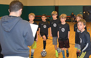 Matthew Dallman goes over instructions and plans with youth players in the Gorge Soccer Academy. Along with the academy, Dallman announced The Dalles' new affiliation with the Gorge Soccer League, of The Dalles.