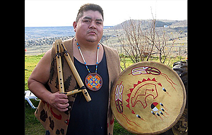James Edmund Greeley from Warm Springs will accompany the Cascade Singers on three Lakota songs expressing hope for the renewal of the Earth in performances this weekend.