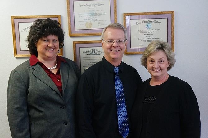Debra Clark, Dr. James M. Haug, Dawn Haug.