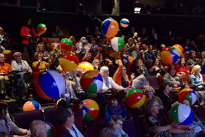 Bring out the beach balls! Sandi Serling's conference use the balls to bring a little fun into her presentations.