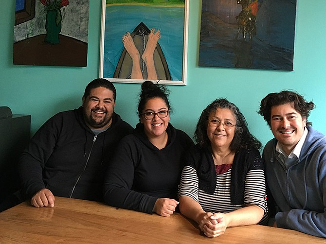 Viola Lopez (second from right) encouraged her son Checo Lopez (far left) to be smart about opening a new business. Despite some slow times, the family has supported one another and grown La Bonita into a successful restaurant with two locations. Also pictured, Viola's daughter Dulce and son Joaquin.
