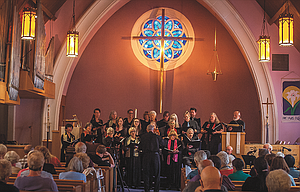 """The Cascade Singers performed Sunday at Zion Lutheran Church in The Dalles. """"Blessings on Earth"""" was the theme of the concert, which had a large audience."""