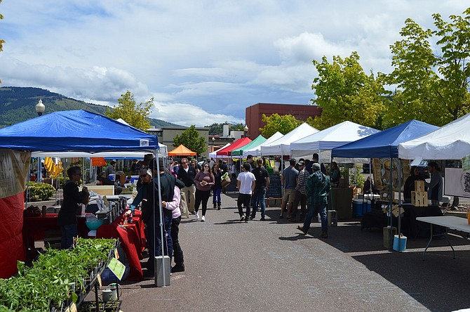 Saturday marked the second Hood River Farmers' Market of the season at the Fifth and Columbia parking lot featuring locally grown food and artist vendors, live music and more.