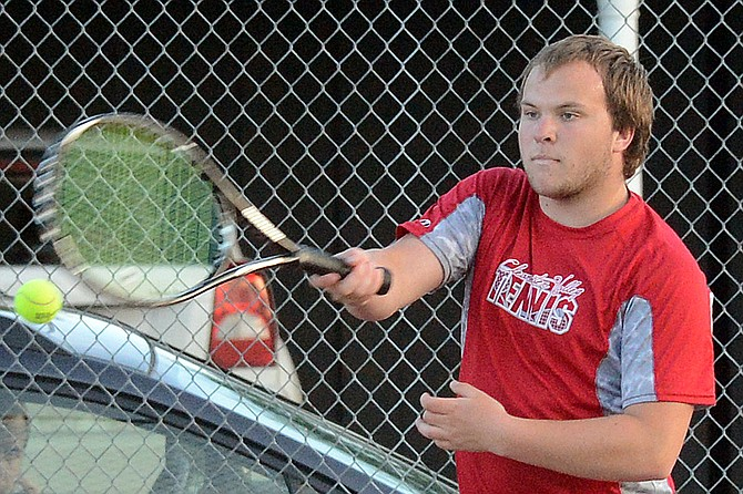 Clearwater Valley's Mitchel Nuxoll qualified for the state tennis tournament.