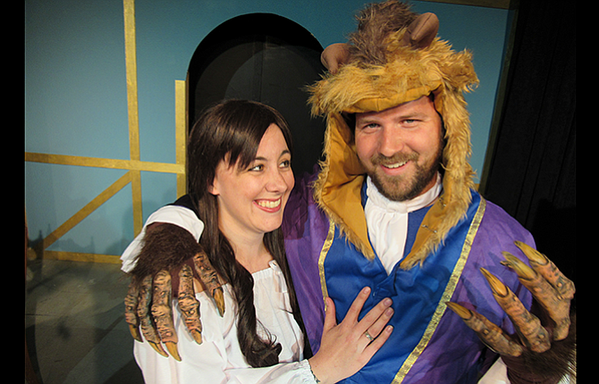 "The Dalles Theatre Company presents ""Beauty and the Beast"" on stage at Columbia Gorge Community College, Building 2, in the third floor lecture hall."