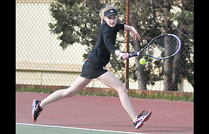 The Dalles tennis player Kiana Pielli placed third in her singles division and the Lady Riverhawks wound up in second place in the team standings at the 5A district tournament held last weekend in Hermiston.