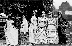 This photograph and a full page in Ada C. Elton's album was dedicated to the 1929 Fort Dalles Frolic, a chance for locals to don their old-timey finery.