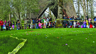 Gentle Woods Park is the location for the annual Monmouth Independence YMCA Easter Egg hunt.