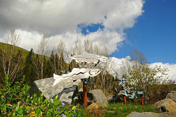 Kooskia Scenic Byway, Fish Sculpture