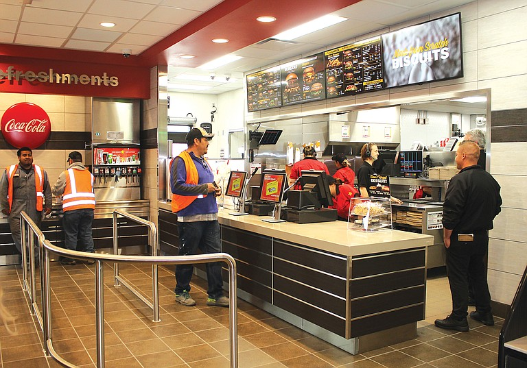 The new Carl's Jr. in Prosser had patrons waiting for the new restaurant to open for the first time yesterday morning.