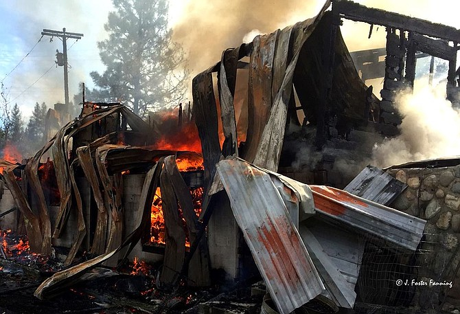 The Curlew Motel is reduced to rubble and twisted metal following a fire last week.