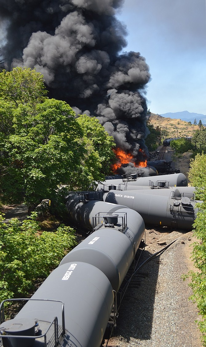 AN OIL TRAIN WRECK in Mosier took place one year ago on June 3. Advocacy groups are tasking the public with recalling the event at a Saturday rally at Mosier Community School, the site that served as a command center for emergency crews during the derailment.