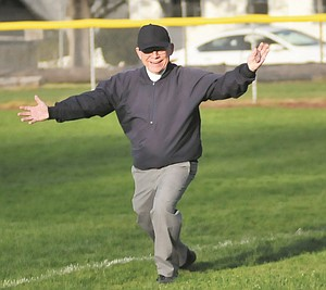 BRUCE PARKER got the chance to officiate his first state championship game last Saturday in Corvallis for the 5A finale. Parker has served as an official for 40 years, including 10 in the Greater Columbia Gorge area.