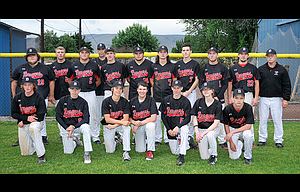 The Dufur Rangers finished 15-1 in league play and captured a Blue MountainConference crown this past spring on the baseball field. With a powerfuel offense and stout pitching staff, the No. 1-ranked Rangers had six players pick up all-league recognition for their efforts, including first-team bids by Kolbe Bales and Bailey Keever, and second-team honors for Hagen Pence, Curtis Crawford and Connor Uhalde. Bales was also named as the league's Most Valuable Player with his seven wins, three no-hitters, one combined, and a 0.25 earned run average in 55 1/3 innings pitched.