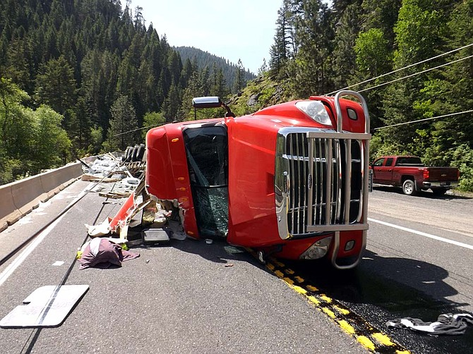 Traffic was restricted for several hours last Wednesday, May 31, following a semitruck accident about 15 miles south of Pollock on U.S. Highway 95. During the crash, a utility pole was destroyed, knocking out service to 1,100 Idaho Power customers for nine hours.