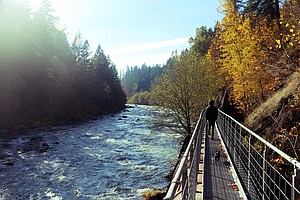 THE POWERDALE CORRIDOR along the Hood River has become the focus of a Columbia Land Trust project. The group will present its public access plan for the scenic riverside stretch on June 27 at the Hood River Library. Interested residents can check out the plan online at www.columbialandtrust.com for a sneak peak.