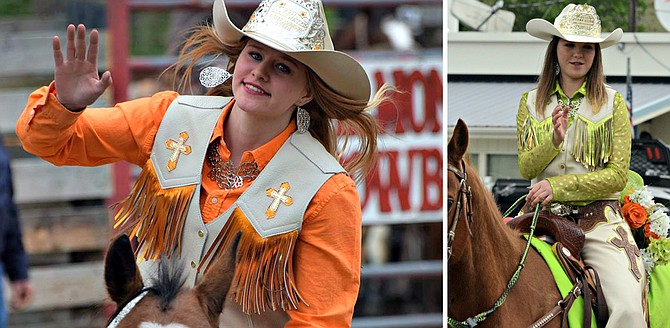 CVRA Rodeo Queen Tayscha Mozely (left) and princess Shelbie Miller will represent CVRA at its events this weekend, June 17 and 18, in Kamiah.