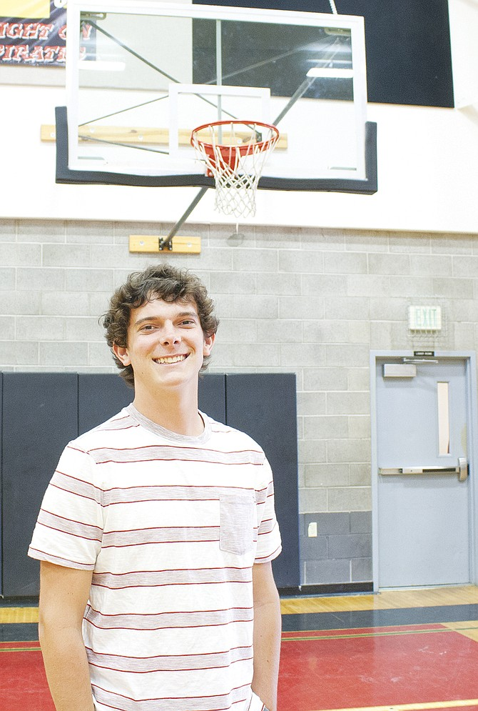 Daniel Domes was a star in the classroom and on the court during his senior year at Perrydale.