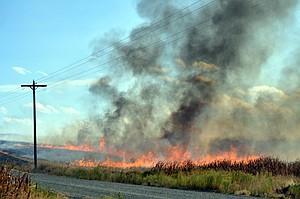 A field burn north of Grangeville.