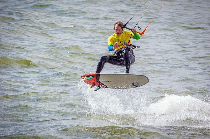 The wind was cooperative enough to hold the scheduled strapless freestyle kiteboarding event ... but not enough for other planned events.