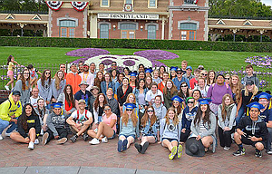This group photo was taken at Disneyland of the 66 graduates of The Dalles High School Class of 2017. They went to Disneyland the day after graduation and spent two days in the theme park.