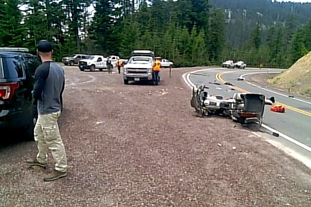 A crash on a curve of Highway 35 near milepost 62 took a motorcyclist's life Monday afternoon.
