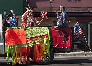 The Fort Dalles Fourth parade July 1 featured the Rock Creek Warriors, above.