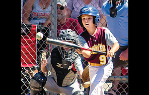 The Dalles 10U All Star Carson Ramsay attempts to lay down a sacrifice bunt in bracket action Wednesday in Redmond. TD lost on Friday afternoon to Bend North, but played in a winner-take-all matchup Saturday.