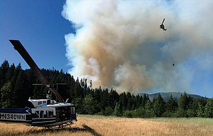 The Washington State Department of Natural Resources has taken the lead on battling a wildfire in Klickitat County that is only 15 percent contained and involves about 322 acres.