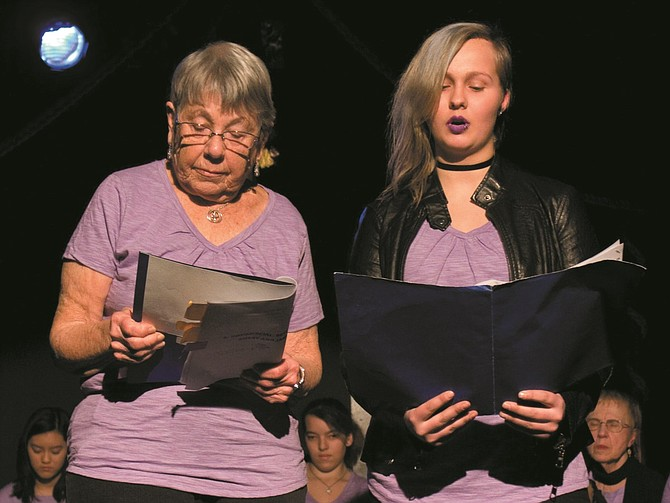 An intergenerational theatre project brought together high school students with residents from a local retirement center to share thoughts and memories of the past, and hopes and fears for the future.