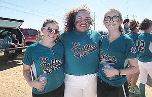 The Dalles' 14U softball team has eight of its 12 players not returning next year due to age, but there are talks of classification expansion and even the possibilities of hosting a regional tournament next year. In this photo, Mercy Iaulualo, in middle, stands between former teammates and current assistant coaches, Kayla Bailey, on left, and Sydnee Byers while in White City last weekend for the Pacific Northwest Babe Ruth Regional Tournament.