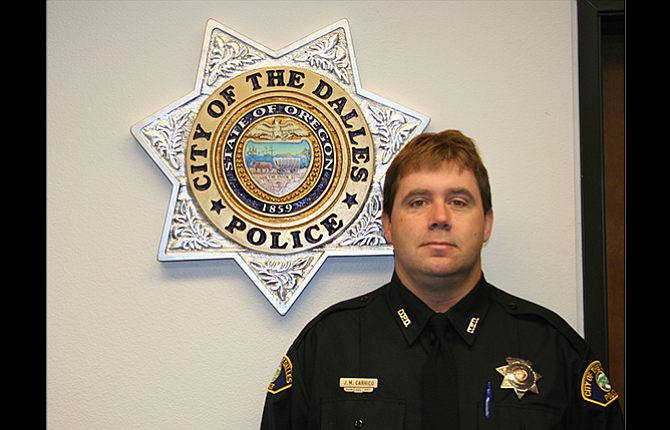 Detective Sgt. Jamie Carrico, a 22-year veteran of The Dalles Police Department, was named the department's captain this month.