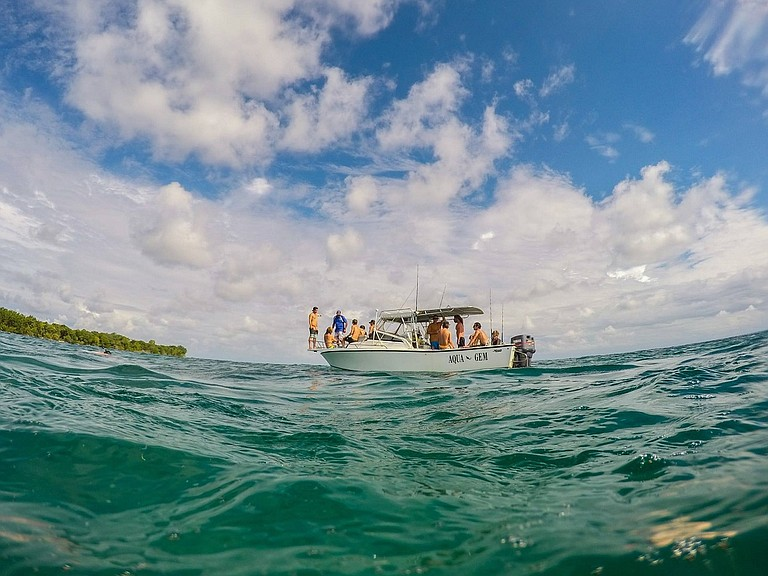 Caribbean Panama island hopping.