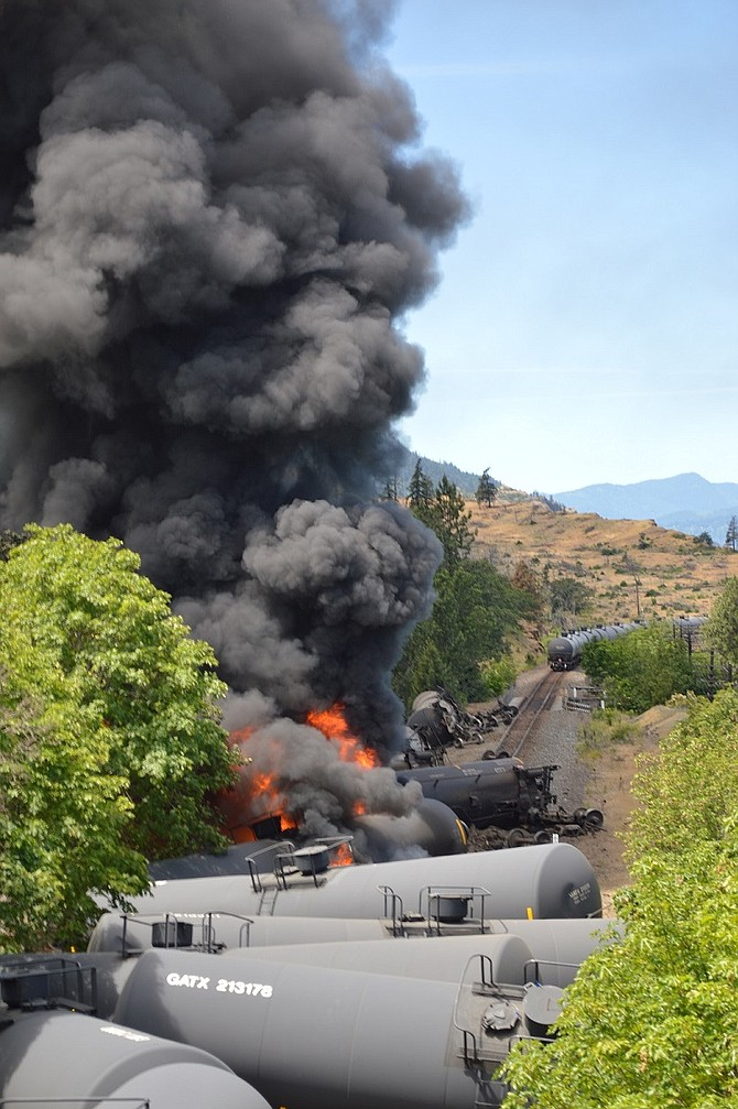 OIL TRAIN derailment coverage resulted in two ONPA awards for the Hood River News.