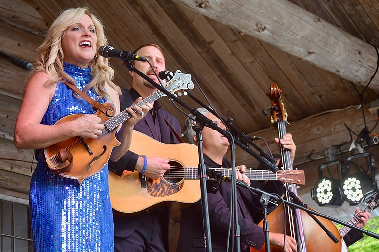 Rhonda Vincent and her band, The Rage, perform at the Darrington Bluegrass Festival July 22.