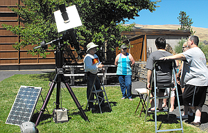 Bob Yoesle from Friends of the Goldendale Observatory will present a solar viewing Saturday, Aug. 12, from 11 a.m. to 3 p.m. at Columbia Gorge Discovery Center, weather and clouds permitting.
