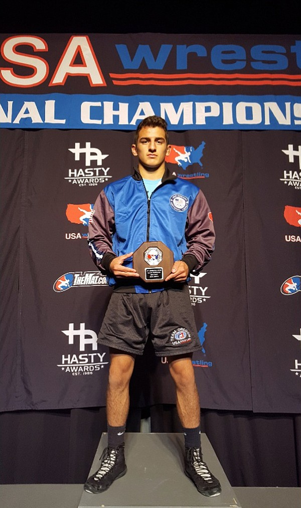 JASON SHANER poses with his second-place award.