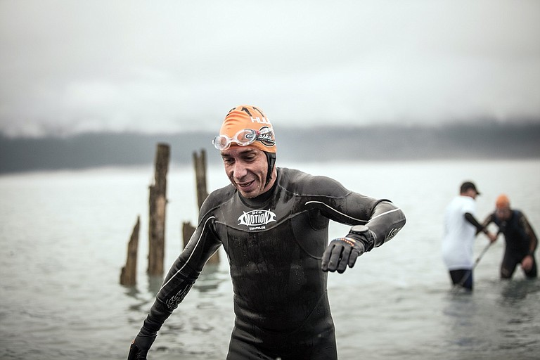 PATRICK HILLER competes in the Alaskaman Extreme Triathlon July 15. He placed 15th overall, completing the event in 13:37:37.