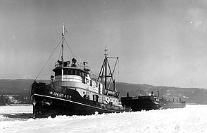 Gary Elkinton and Terray Harmon contributed to this report. Last week's History Mystery photograph, above was submitted by Ray Weimar. It shows the tug boat Winquatt pulling a heating barge through the ice-covered Columbia River in the winter of 1949.  That winter, river traffic was at a standstill because of the ice, noted Gary Elkinton of The Dalles. Terray Harmon also noted that the barges were having trouble getting through that winter because the ice was so thick, and the tug was needed to break a path through.