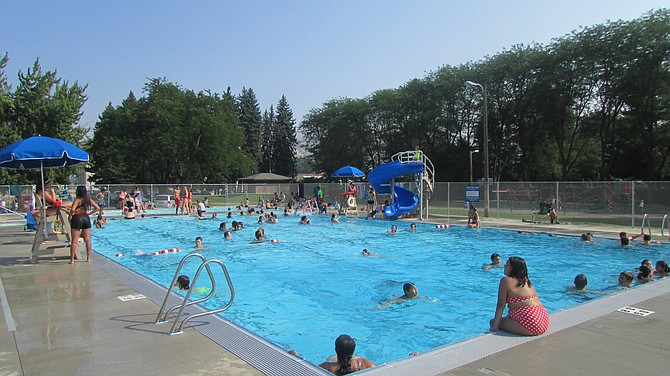 The pool is open from 1-5 p.m. Monday through Friday, and 1-6 p.m. Saturday; adult lap swim is 5-6 p.m. Monday though Friday; family swims are from 6-8 p.m. Tuesdays and Thursdays. Admission is charged.