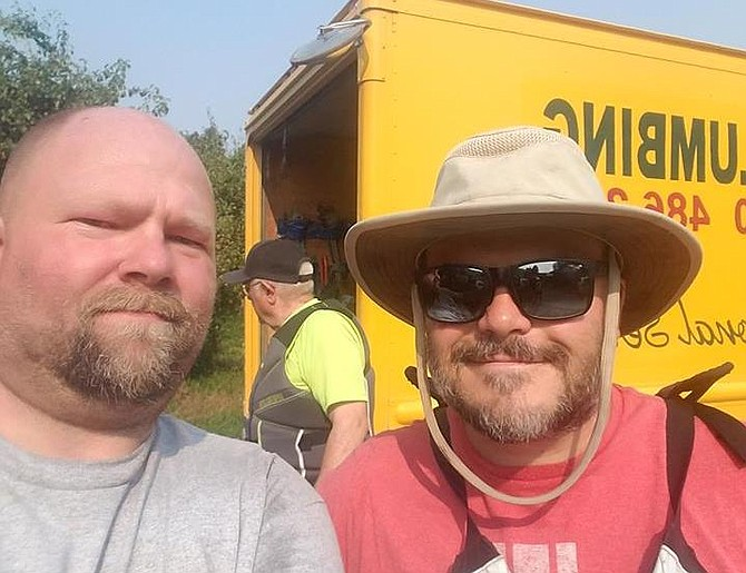 Local businessman Edward Lawrence snaps a selfie with Hollywood celebrity Jack Black earlier this week.