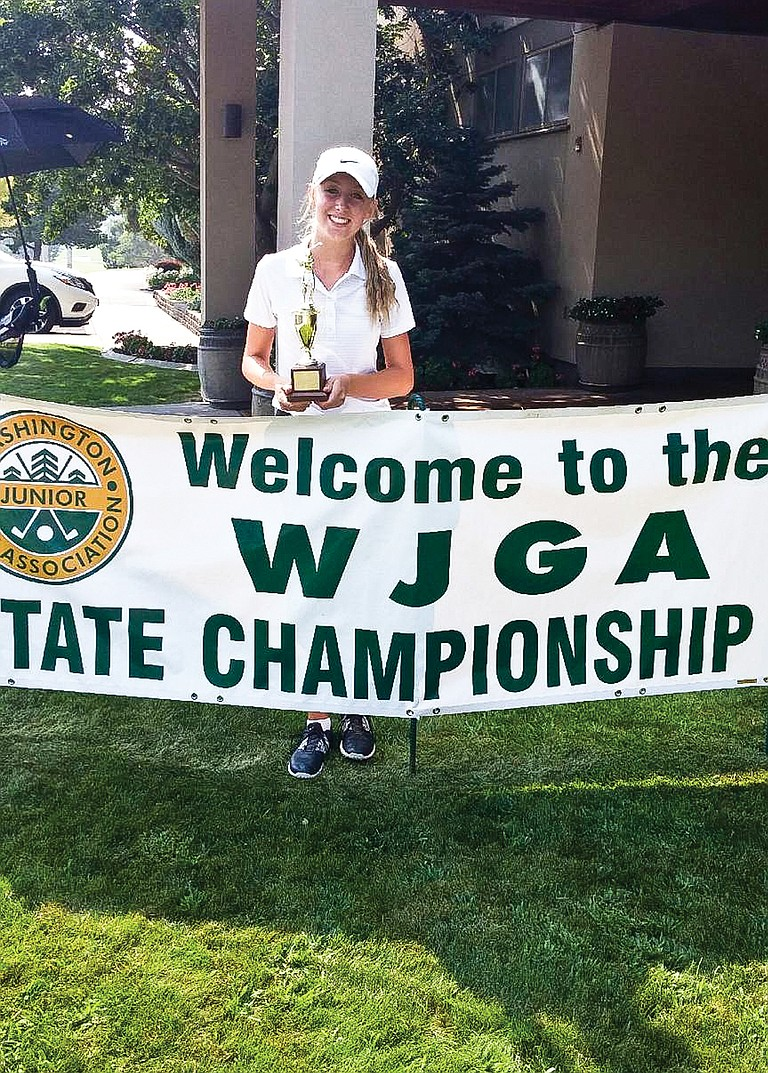 Morgan Baum of the Mt. Adams Golf Club in Toppenish shot the best final round to capture the fourth place trophy.