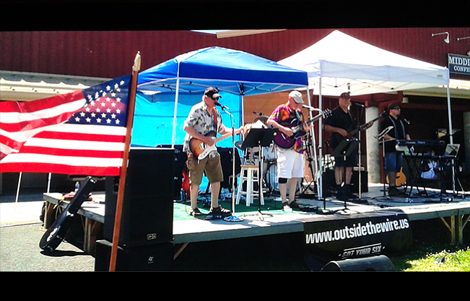 """Local band """"Got Your Six,"""" performs July 15 at the Veteran Resource Fair in Redmond in their quest to support causes that help military families."""