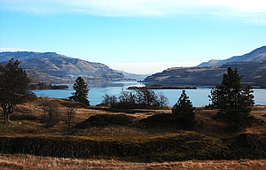 """A view of the Columbia River from Catherine Creek, west of Lyle. A cleanup and restoration event, """"Love your Columbia,"""" is planned for Aug. 26."""